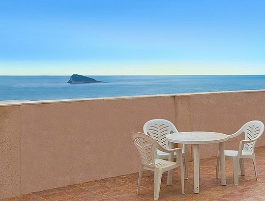 Large terrace with sea views Magic Atrium Beach Apartments