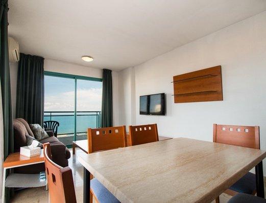 Living room in apartment 2/4 Magic Atrium Beach Apartments